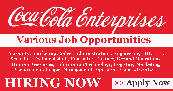 coca cola enterprises jobs