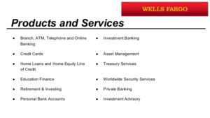 Wells Fargo Products