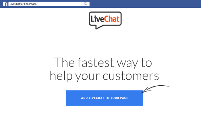 livechat for facebook
