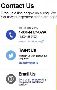 southwest customer service