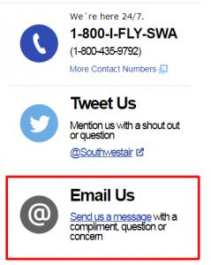 southwest email