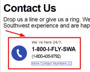 southwest phone number