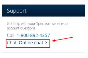 spectrum live chat