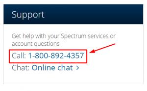 spectrum phone number