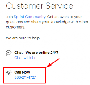 sprint phone number
